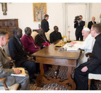 VATICAN: Pope Francis meets with the principal Christian religious leaders of South Sudan