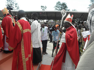 Bishop Kirabo in a procession for the 2017 Uganda Martyrs day celebration