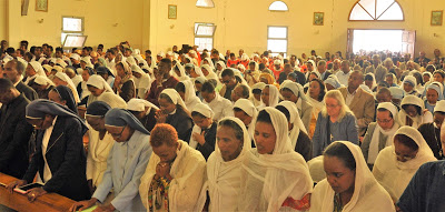 Part of the congregation gathered at the Ordination ceremony of Abune Seyoum