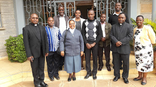 AMECEA SCCs Training Team in Nairobi, Kenya during a preparatory meeting for the Pan-African SCCs workshop