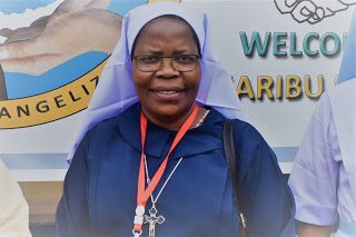 Sr. Enelless Chimbali, Re-elected ACWECA Secretary General