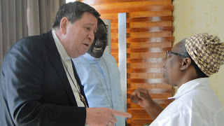 Sr. Prisca Mantenga, DOR, Chairperson of ACWECA Receives H.E. João Cardinal Bráz de Aviz, at Julius Nyerere International Airport in Dar-es-Salaam Tanzania when he arrived for the ACWECA 17th Plenary Assemby