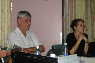 Mr. Pieter de Wit from Stem Van Afrika and Ms. Petra Stammen  from CAMECO listening to the presentations  from the participants