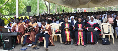 A section of the Congregation during the Thanksgiving Eucharistic Celebrations  in Honor of Graduating Students During the 36th Graduation Ceremony